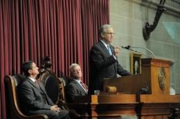 Nixon, Kinder, Jones (r-l), Tim Bommel, Mo-1. House Communications